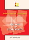 IG Report to Parliament July-December 2013