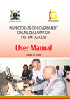 INSPECTORATE OF GOVERNMENT ONLINE DECLARATION SYSTEM (IG-ODS) User Manual